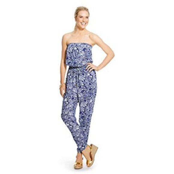 7827aaf2b16 Lilly Pulitzer for Target Pants - Lilly Pulitzer Target Blue Strapless  Jumpsuit